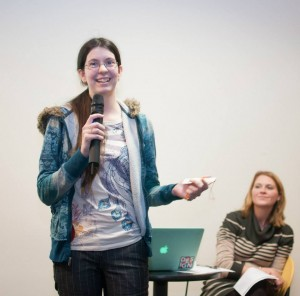 Alayna Tharp presenting